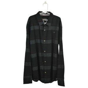CALVIN KLEIN JEANS Button Down Shirt XL Black